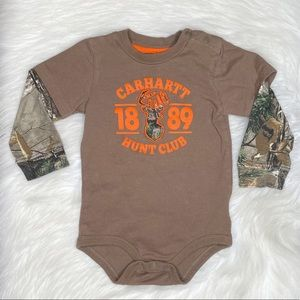 Carhartt Infant Camo Realtree Layered Onesie 24M